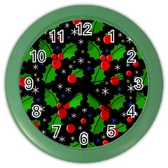 Xmas Magical Pattern Color Wall Clocks by Valentinaart