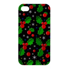 Xmas Magical Pattern Apple Iphone 4/4s Hardshell Case by Valentinaart