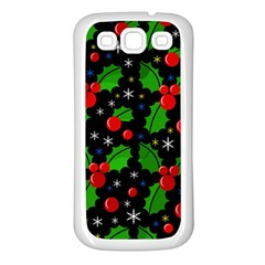 Xmas Magical Pattern Samsung Galaxy S3 Back Case (white) by Valentinaart