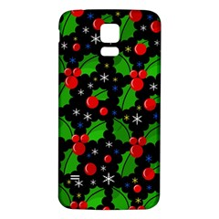 Xmas Magical Pattern Samsung Galaxy S5 Back Case (white) by Valentinaart