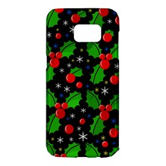 Xmas Magical Pattern Samsung Galaxy S7 Edge Hardshell Case by Valentinaart