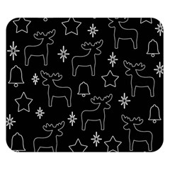 Black Xmas Pattern Double Sided Flano Blanket (small)  by Valentinaart
