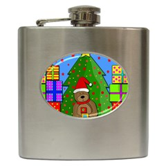 Xmas Gifts Hip Flask (6 Oz) by Valentinaart