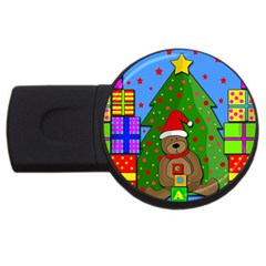 Xmas Gifts Usb Flash Drive Round (4 Gb)  by Valentinaart