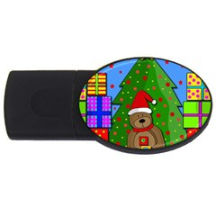 Xmas Gifts Usb Flash Drive Oval (4 Gb)  by Valentinaart