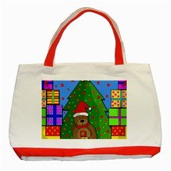 Xmas Gifts Classic Tote Bag (red) by Valentinaart