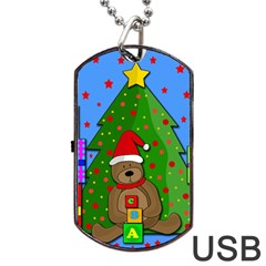 Xmas Gifts Dog Tag Usb Flash (two Sides)  by Valentinaart