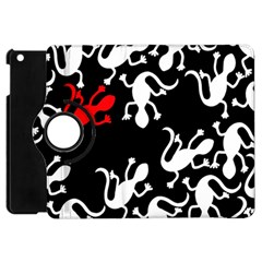 Red Lizard Apple Ipad Mini Flip 360 Case by Valentinaart