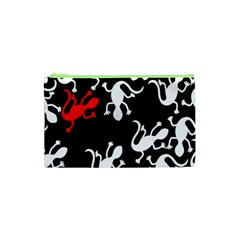 Red Lizard Cosmetic Bag (xs) by Valentinaart