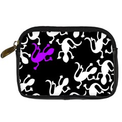 Purple Lizard  Digital Camera Cases by Valentinaart