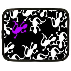 Purple Lizard  Netbook Case (xxl)  by Valentinaart