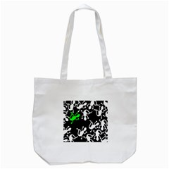 Green Lizards  Tote Bag (white) by Valentinaart