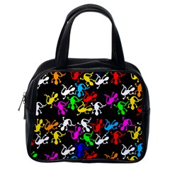 Colorful Lizards Pattern Classic Handbags (one Side) by Valentinaart