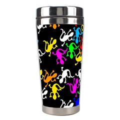Colorful Lizards Pattern Stainless Steel Travel Tumblers by Valentinaart