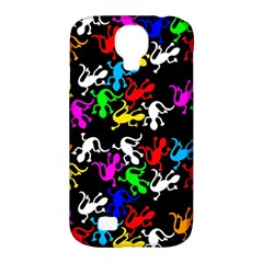 Colorful Lizards Pattern Samsung Galaxy S4 Classic Hardshell Case (pc+silicone) by Valentinaart