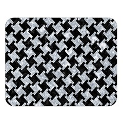 Houndstooth2 Black Marble & Gray Marble Double Sided Flano Blanket (large) by trendistuff