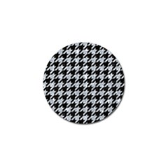 Houndstooth1 Black Marble & Gray Marble Golf Ball Marker by trendistuff