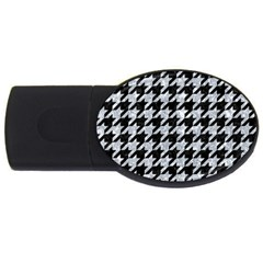 Houndstooth1 Black Marble & Gray Marble Usb Flash Drive Oval (2 Gb) by trendistuff