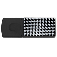 Houndstooth1 Black Marble & Gray Marble Usb Flash Drive Rectangular (4 Gb) by trendistuff