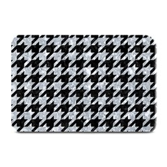 Houndstooth1 Black Marble & Gray Marble Plate Mat by trendistuff