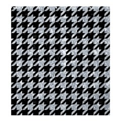 Houndstooth1 Black Marble & Gray Marble Shower Curtain 66  X 72  (large) by trendistuff