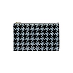Houndstooth1 Black Marble & Gray Marble Cosmetic Bag (small) by trendistuff