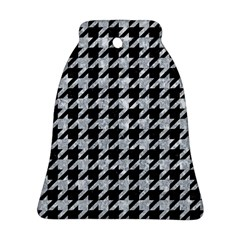 Houndstooth1 Black Marble & Gray Marble Bell Ornament (two Sides) by trendistuff