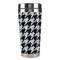 Houndstooth1 Black Marble & Gray Marble Stainless Steel Travel Tumbler by trendistuff