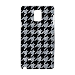 Houndstooth1 Black Marble & Gray Marble Samsung Galaxy Note 4 Hardshell Case by trendistuff