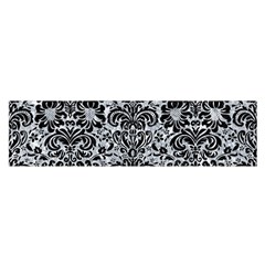 Damask2 Black Marble & Gray Marble (r) Satin Scarf (oblong) by trendistuff