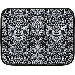 Damask2 Black Marble & Gray Marble Double Sided Fleece Blanket (mini) by trendistuff