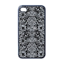 Damask2 Black Marble & Gray Marble Apple Iphone 4 Case (black) by trendistuff