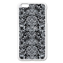 Damask2 Black Marble & Gray Marble Apple Iphone 6 Plus/6s Plus Enamel White Case by trendistuff