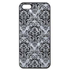 Damask1 Black Marble & Gray Marble (r) Apple Iphone 5 Seamless Case (black) by trendistuff