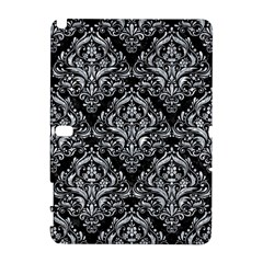 Damask1 Black Marble & Gray Marble Samsung Galaxy Note 10 1 (p600) Hardshell Case by trendistuff