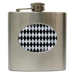 Diamond1 Black Marble & Gray Marble Hip Flask (6 Oz) by trendistuff
