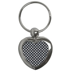Circles3 Black Marble & Gray Marble (r) Key Chain (heart) by trendistuff