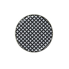 Circles3 Black Marble & Gray Marble (r) Hat Clip Ball Marker (10 Pack) by trendistuff
