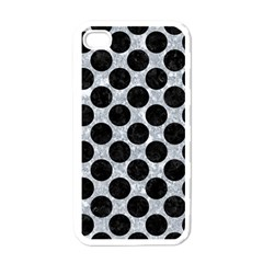 Circles2 Black Marble & Gray Marble (r) Apple Iphone 4 Case (white) by trendistuff
