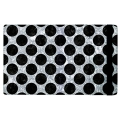 Circles2 Black Marble & Gray Marble (r) Apple Ipad 3/4 Flip Case by trendistuff