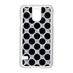 Circles2 Black Marble & Gray Marble (r) Samsung Galaxy S5 Case (white) by trendistuff