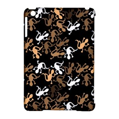 Brown Lizards Pattern Apple Ipad Mini Hardshell Case (compatible With Smart Cover) by Valentinaart