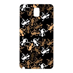 Brown Lizards Pattern Samsung Galaxy Note 3 N9005 Hardshell Back Case by Valentinaart
