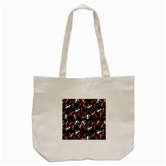 Decorative Lizards Pattern Tote Bag (cream) by Valentinaart