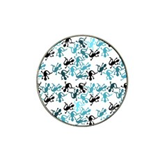 Lizards Pattern   Blue Hat Clip Ball Marker (4 Pack)