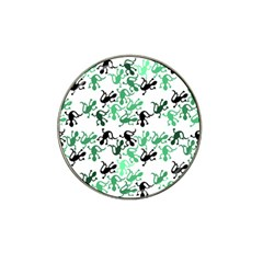 Lizards Pattern   Green Hat Clip Ball Marker by Valentinaart
