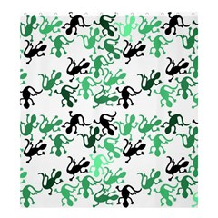 Lizards Pattern   Green Shower Curtain 66  X 72  (large)  by Valentinaart