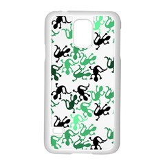 Lizards Pattern   Green Samsung Galaxy S5 Case (white)