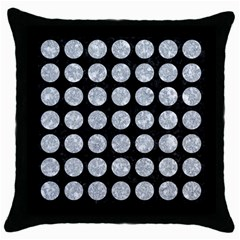 Circles1 Black Marble & Gray Marble Throw Pillow Case (black) by trendistuff