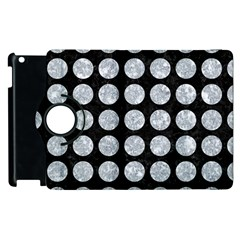 Circles1 Black Marble & Gray Marble Apple Ipad 3/4 Flip 360 Case by trendistuff